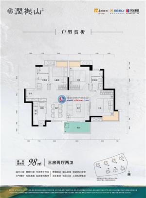 润樾山5/6/7栋05户型 三房 98㎡